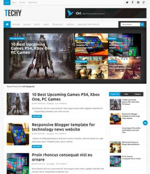 Techy Blogger Template [ blogspot themes ]