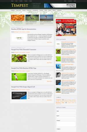 Tempest Classic Blogger Template [ blogspot themes ]