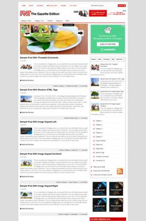 The Gazette Edition Blogger Template [ blogspot themes ]