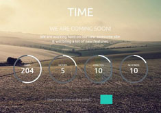 Time Coming Soon Responsive Blogger Template [ blogspot themes ]
