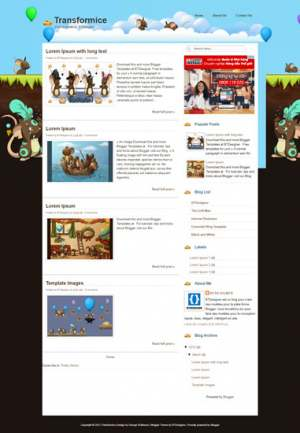 Transformice Blogger Template [ blogspot themes ]