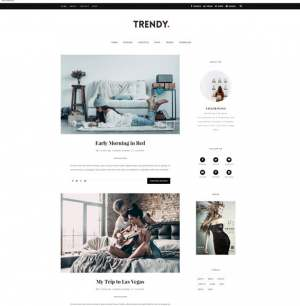Trendy Blogger Template [ blogspot themes ]