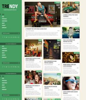 Trendy Green Responsive Blogger Template [ blogspot themes ]