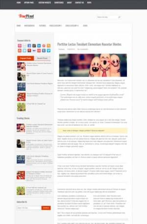 True Pixel Blogger Template [ blogspot themes ]