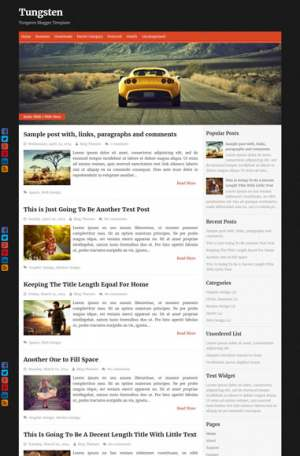 Tungsten Responsive Blogger Template [ blogspot themes ]