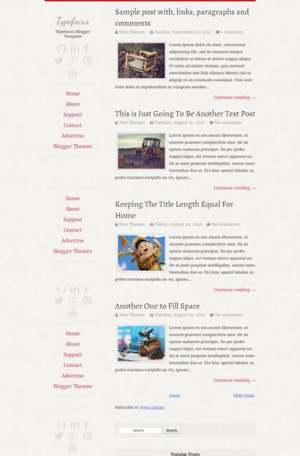 Typefocus ResponsiveBlogger Template [ blogspot themes ]