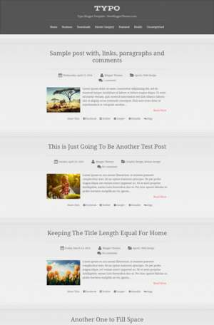 Typo Blogger Template  [ blogspot themes ]