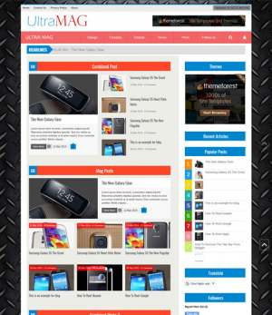 Ultra Mag Responsive Blogger Template [ blogspot themes ]
