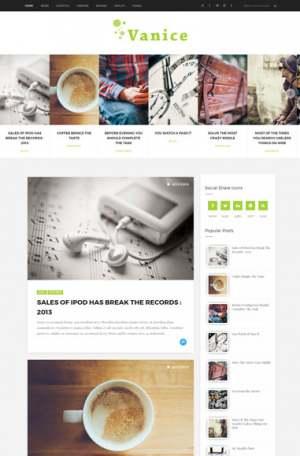 Vanice Blogger Template [ blogspot themes ]