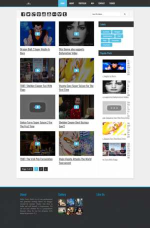 Vegeta YouTube Dailymotion Videos Blogger Template [ blogspot themes ]