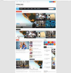 Vienna Mag Blogger Template [ blogspot themes ]