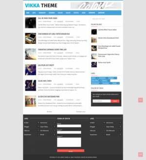 Vikka Fast Loading Blogger Template [ blogspot themes ]