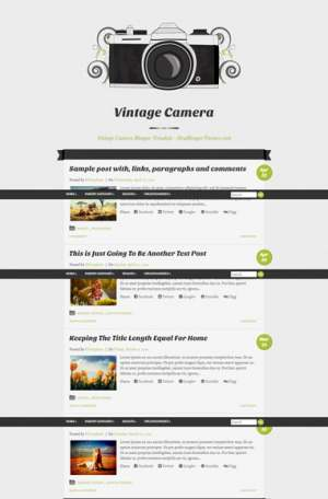 Vintage Camera Responsive Blogger Template [ blogspot themes ]