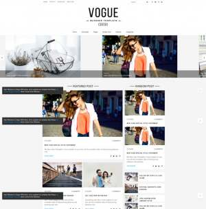 Vogue Blogger Template [ blogspot themes ]