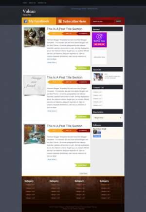 Vulcan Blogger Template [ blogspot themes ]