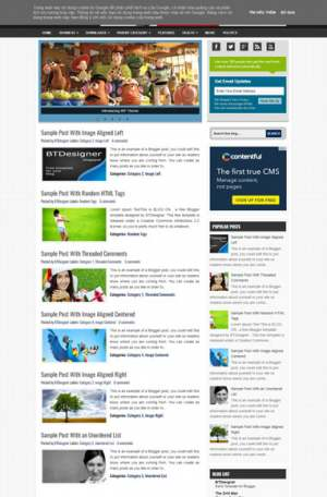 Wall Blogger Template [ blogspot themes ]