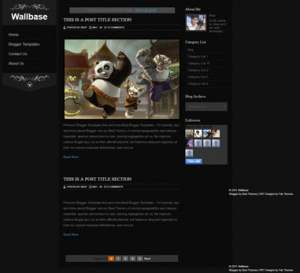 Wallbase Blogger Template [ blogspot themes ]