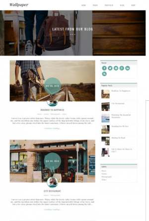 Wallpaper Blogger Template [ blogspot themes ]