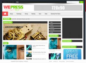 WePress Light Blogger Template [ blogspot themes ]