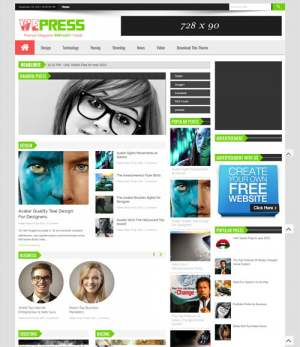 WePress Multi Ads Blogger Template [ blogspot themes ]