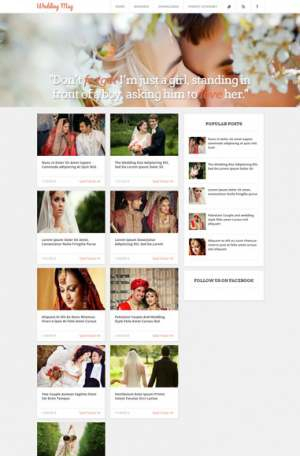 Wedding Mag Responsive Blogger Template [ blogspot themes ]