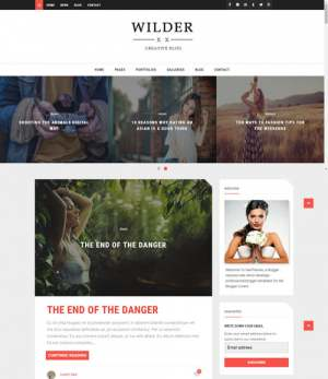 Wilder Blogger Template [ blogspot themes ]