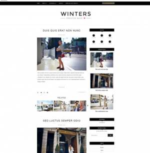 Winters Blogger Template [ blogspot themes ]