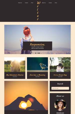 Write Simple Blogger Template [ blogspot themes ]