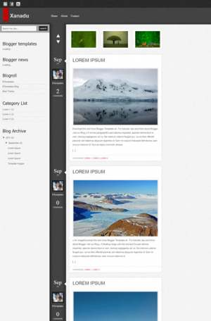 Xanadu Blogger Template [ blogspot themes ]