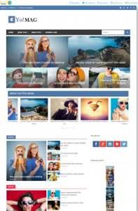 Yo Mag Blogger Template [ blogspot themes ]