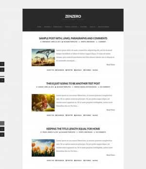 ZenzeroBlogger Template [ blogspot themes ]