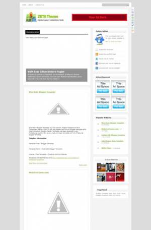 Zeta Theme Blogger Template [ blogspot themes ]