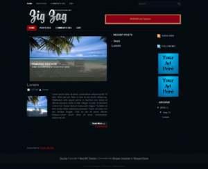 Zig Zag Blogger Template [ blogspot themes ]