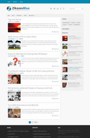 Zikazev BlueBlogger Template [ blogspot themes ]