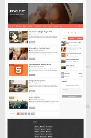 Zikazev Flat ResponsiveBlogger Template [ blogspot themes ]