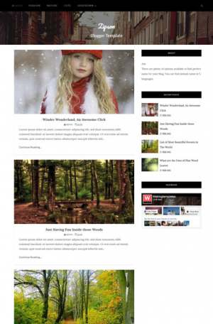 Zipson Blogger Template [ blogspot themes ]
