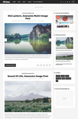 iPrime Blogger Template [ blogspot themes ]