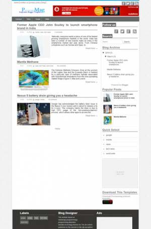pronewsMag Blogger Template [ blogspot themes ]