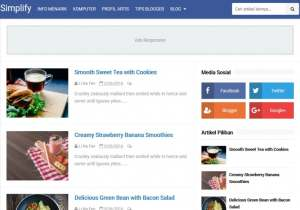 Simplify 2 Blogger Template [ blogspot themes ]